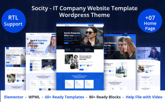 Socity - IT Company Website Template WordPress Theme