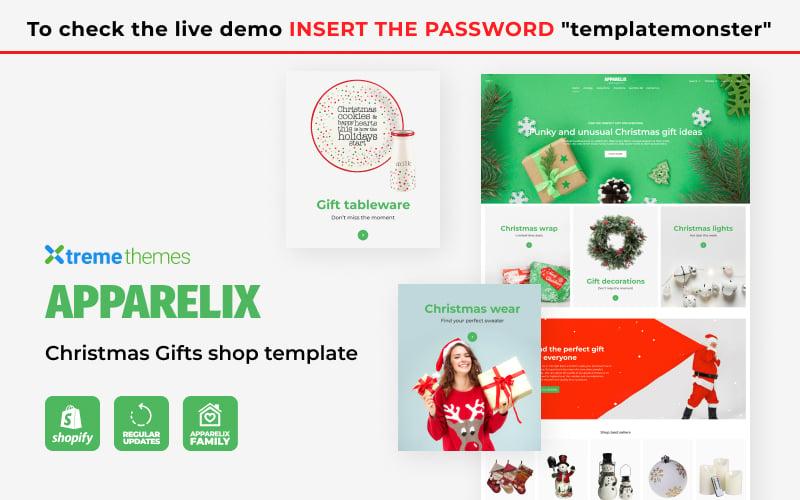 Apparelix Christmas Gifts Store Tema de Shopify №126446