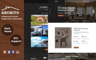 Archito - Architecture and Interior Design HTML Landing Page Template