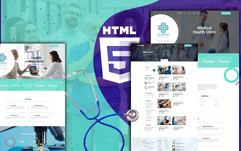 Clinvee | Doctor Medical Clinic Template Web №126443