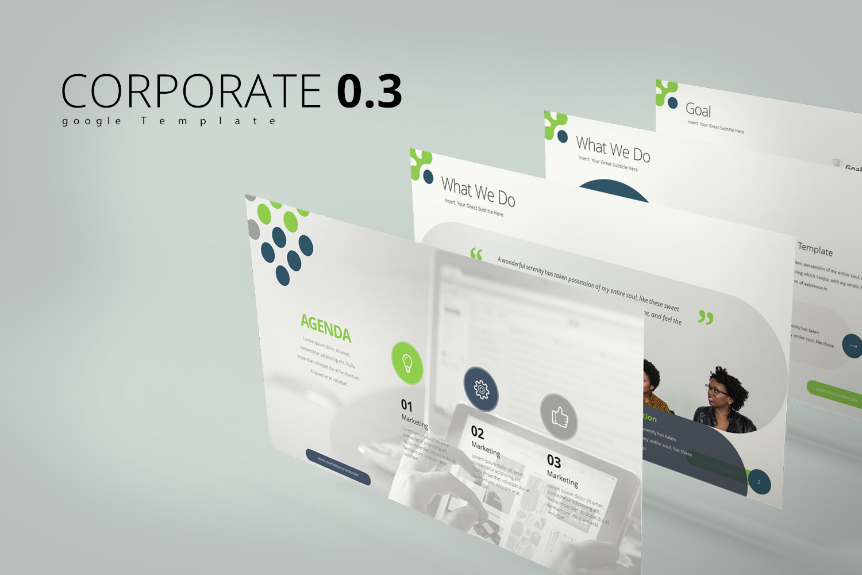 """Corporate 0.3 Templates"" google Slides  #126422"