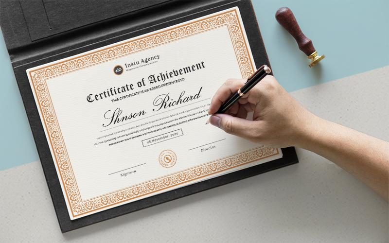 """Elegant  Design"" Certificate Template №126432"