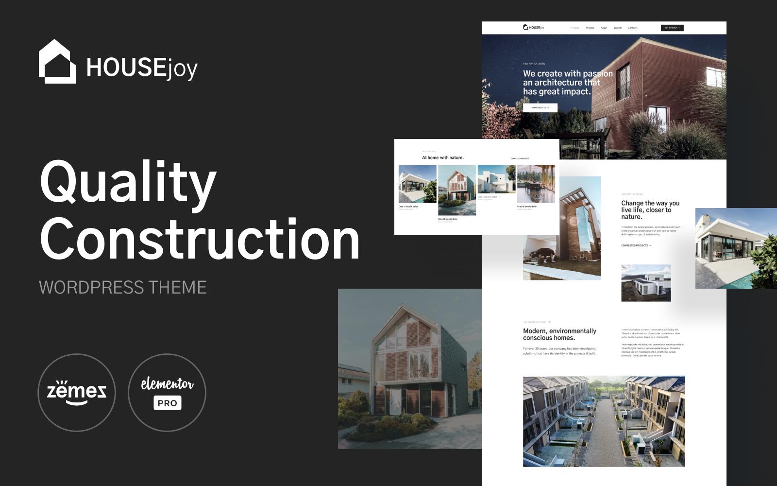 HouseJoy - Building Construction Template №126447
