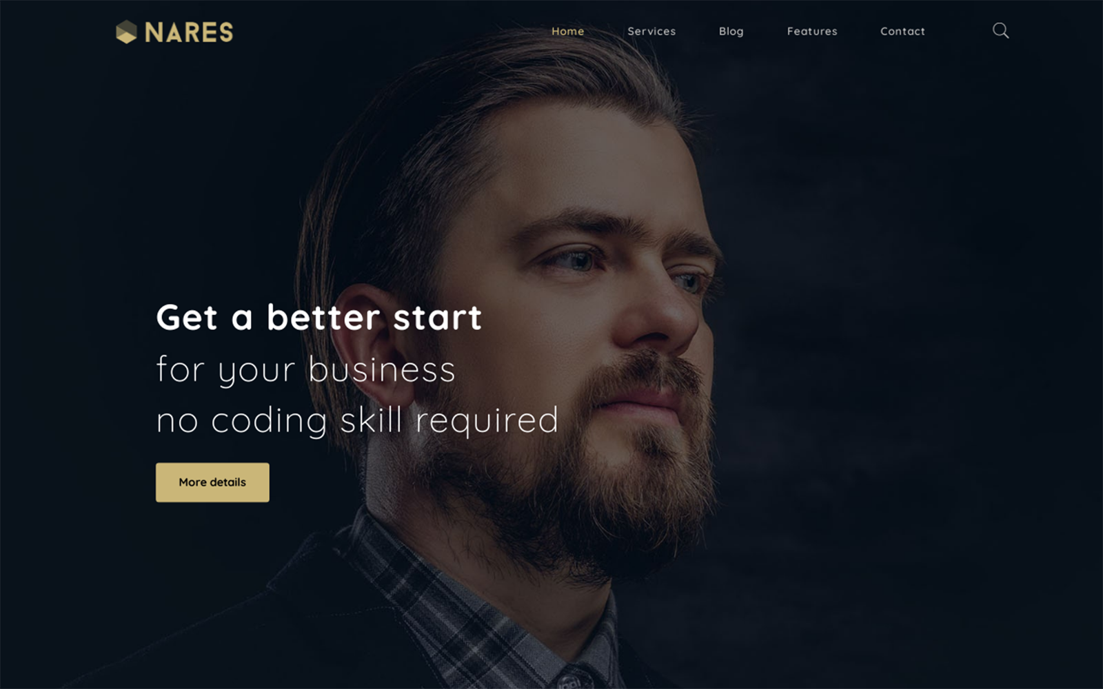 """Nares - Multipurpose Business Services with Elementor"" Bootstrap WordPress thema №126436"