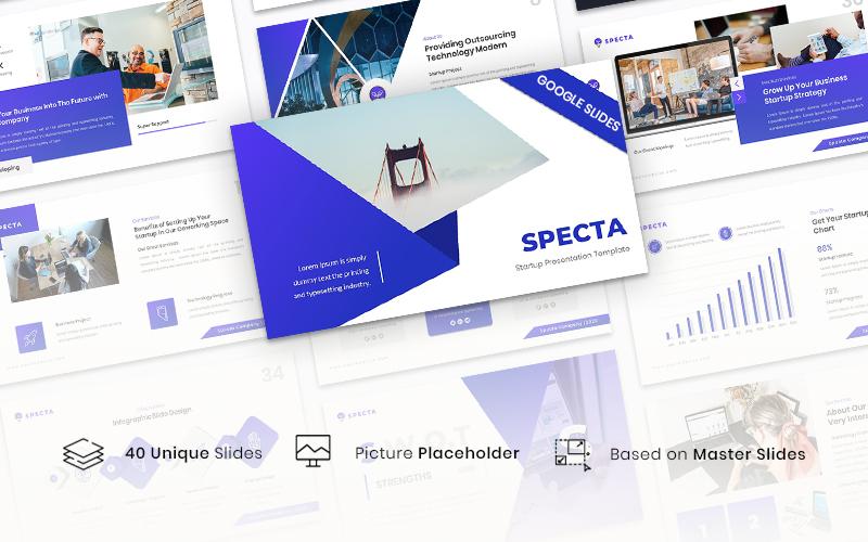 """Specta - Startup Template"" - Google Slides №126427"