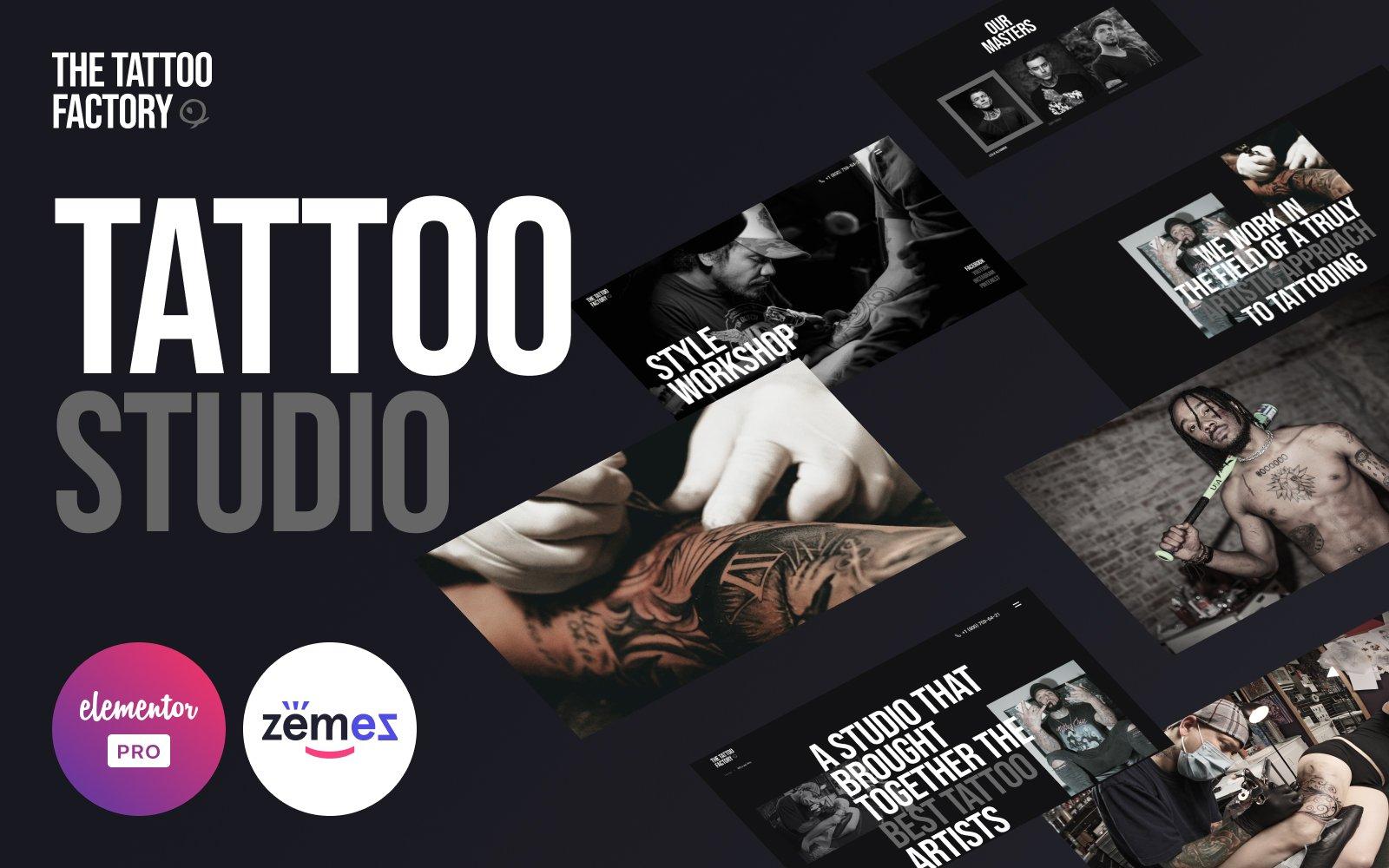 The Tattoo Factory - Elementor Pro Tattoo Studio №126444