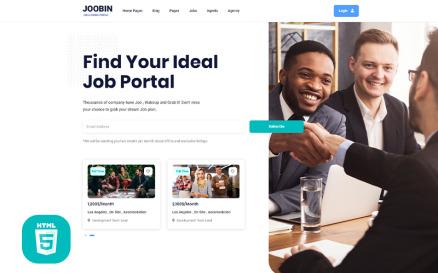 Jooben   Job Board Portal Website Template