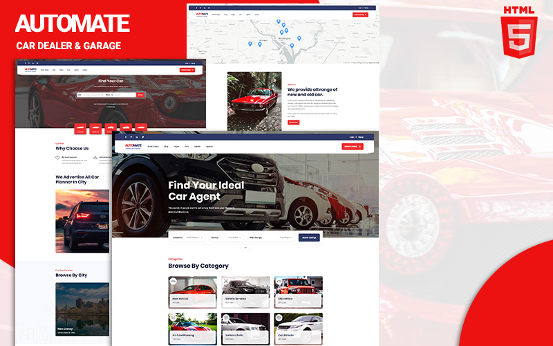 """Automate - Car Loan"" Responsive Website template №126728"