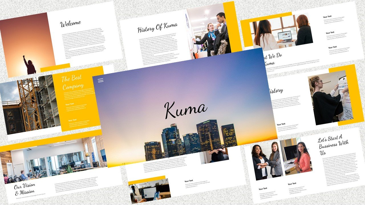 """Kuma – Creative Business"" PowerPoint 模板 #126714"