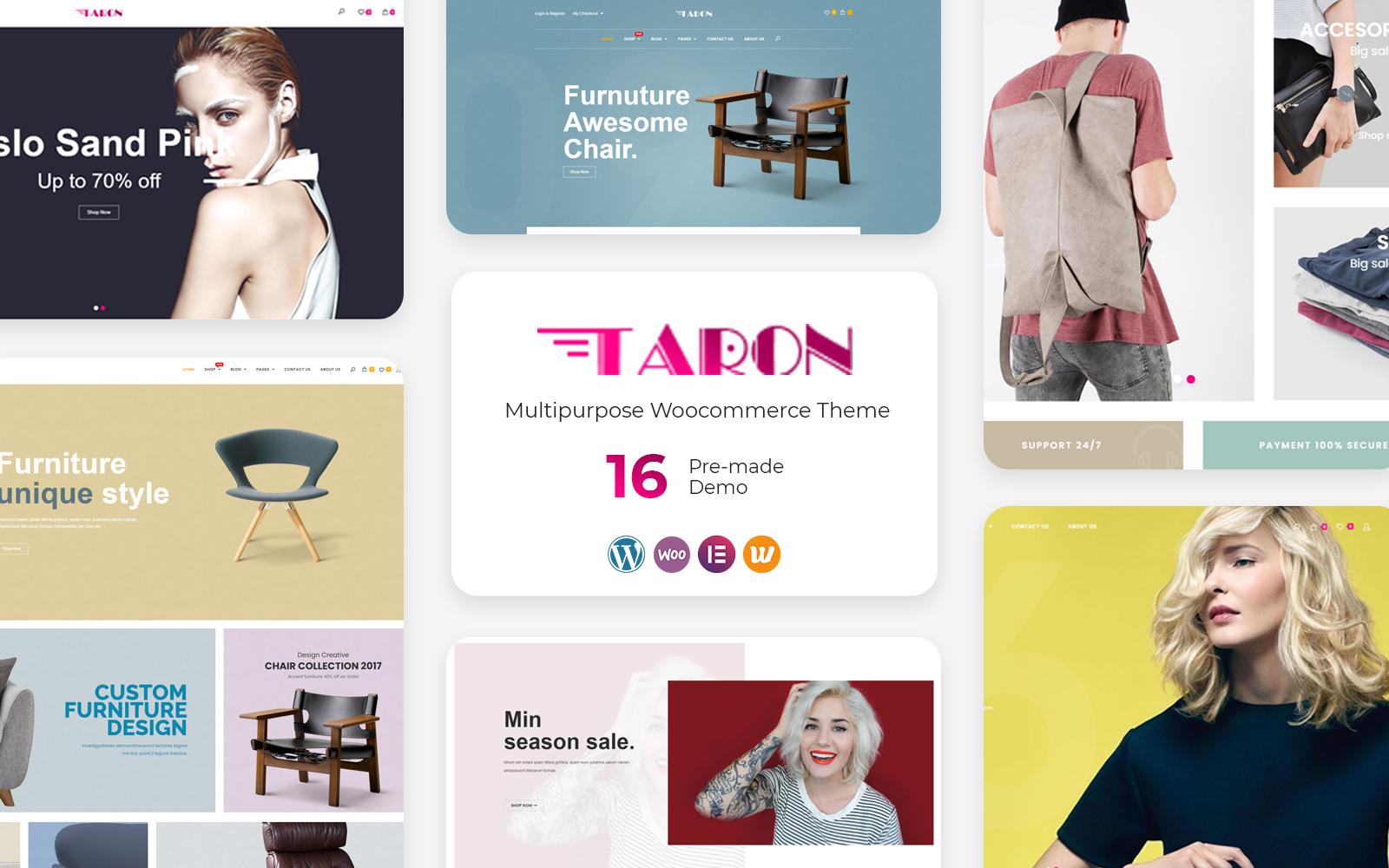 Responsywny motyw WooCommerce Taron - Multipurpose #126723