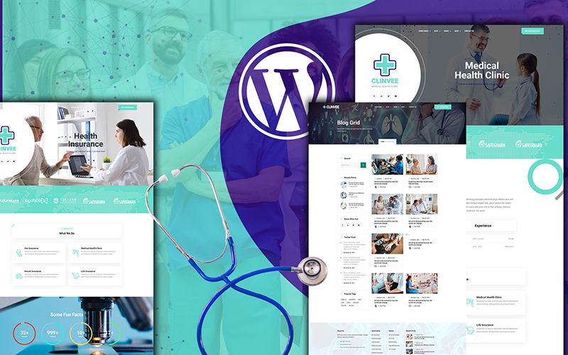 Responsywny motyw WordPress Clinvee | Doctor Medical Clinic #126731