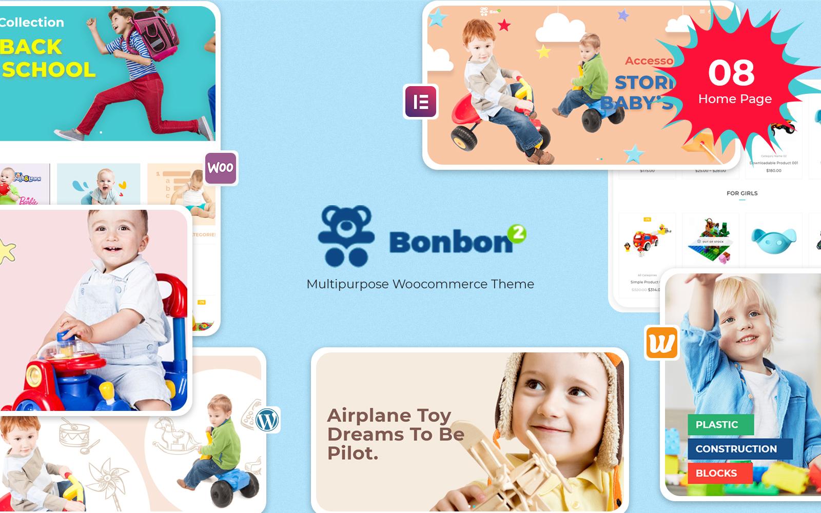 Reszponzív Bonbon - Baby & Kids Store WooCommerce sablon 126721