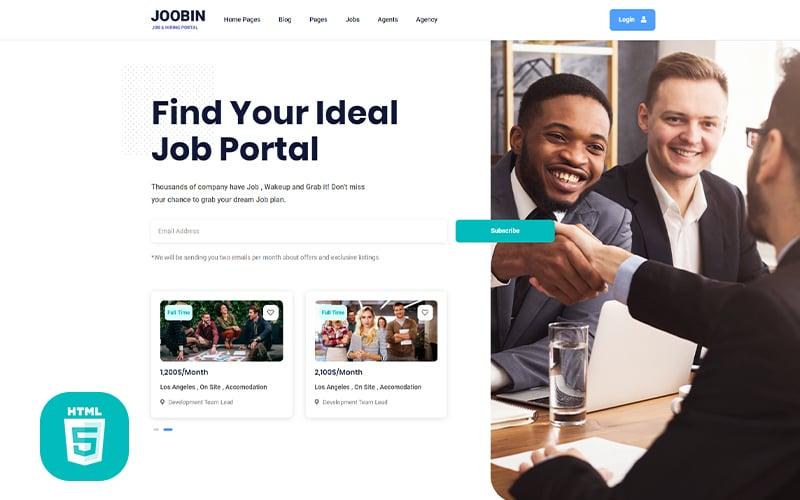 Reszponzív Jooben | Job Board Portal Weboldal sablon 126718