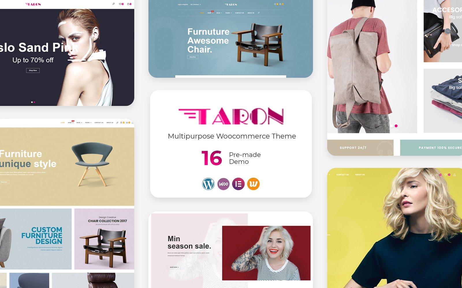 Reszponzív Taron - Multipurpose WooCommerce sablon 126723