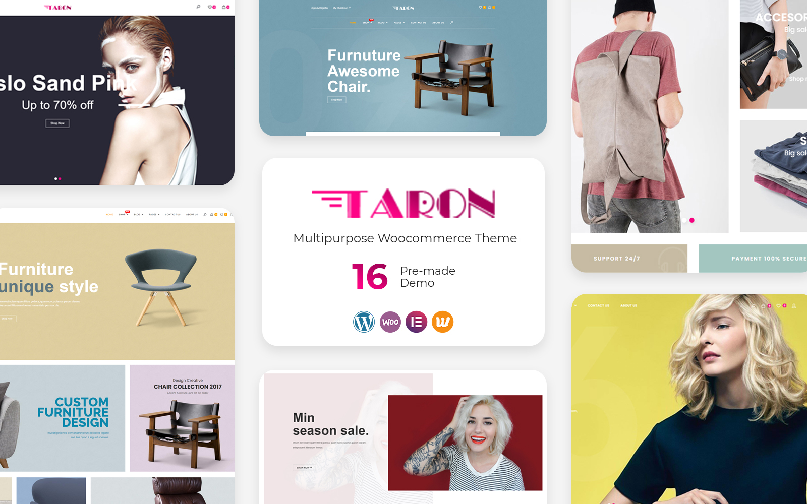 "WooCommerce Theme namens ""Taron - Multipurpose"" #126723"
