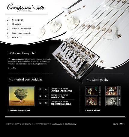 Creare site prezentare muzica