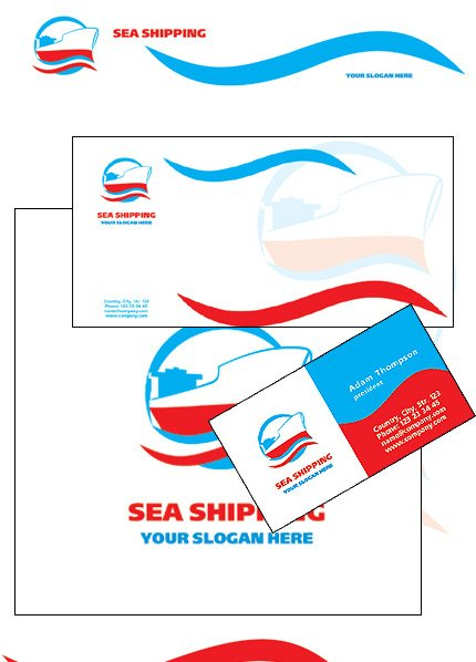 Maritime Corporate Identity Template Vector Corporate Identity preview