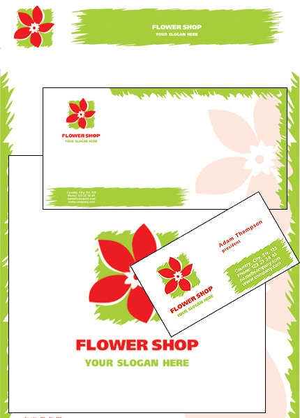 Flower Shop Corporate Identity Template Vector Corporate Identity preview