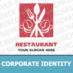 Cafe & Restaurant Corporate Identity Template 13177