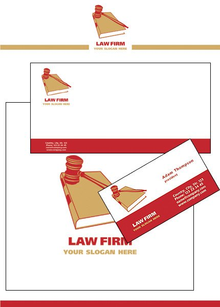 Law Firm Corporate Identity Template Vector Corporate Identity preview
