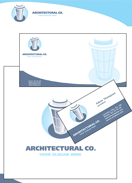 Architecture Corporate Identity Template Vector Corporate Identity preview