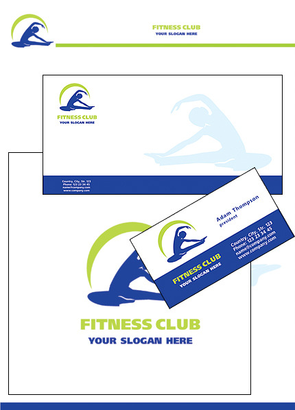 Fitness Corporate Identity Template Vector Corporate Identity preview