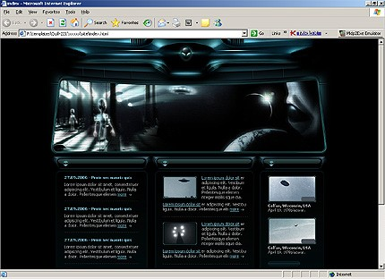 Page d'accueil HTML du kit graphique #13256