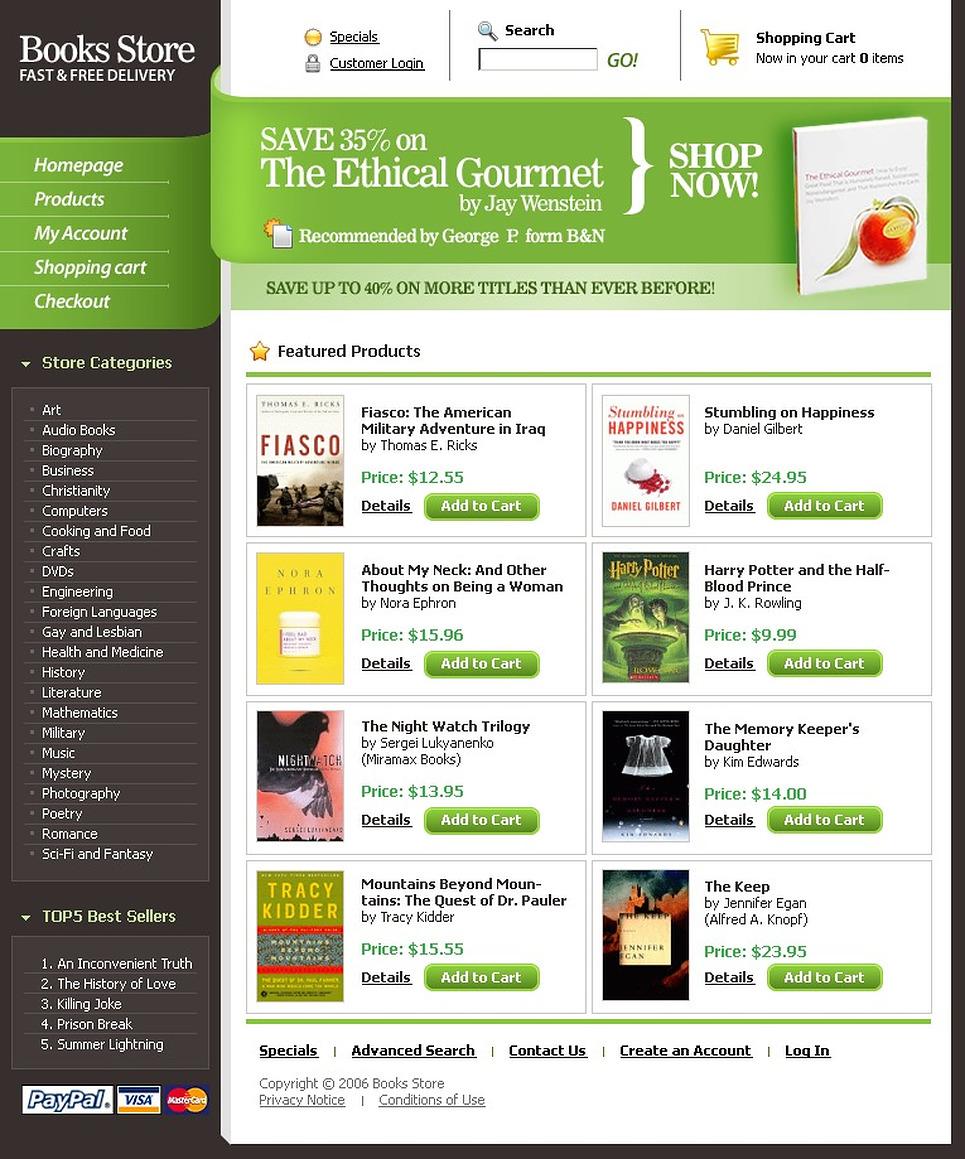 Tema siti web per un sito di libri for Siti web di home plan