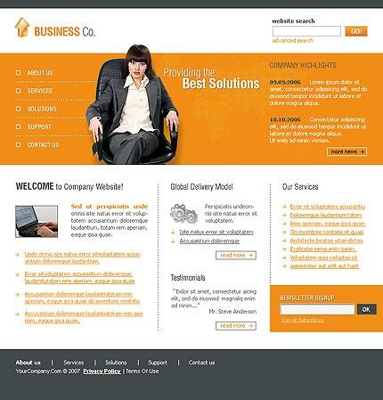 Многостраничный CSS-шаблон для сайта (главная и внутренние страницы) (Template Monster № 13346)