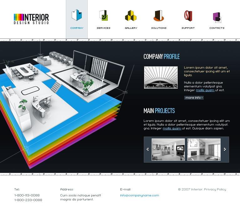 Mod le flash 13551 pour site de design int rieur for Site de design interieur