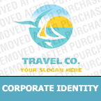 Travel Corporate Identity Template 13596