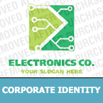 Electronics Corporate Identity Template 13598