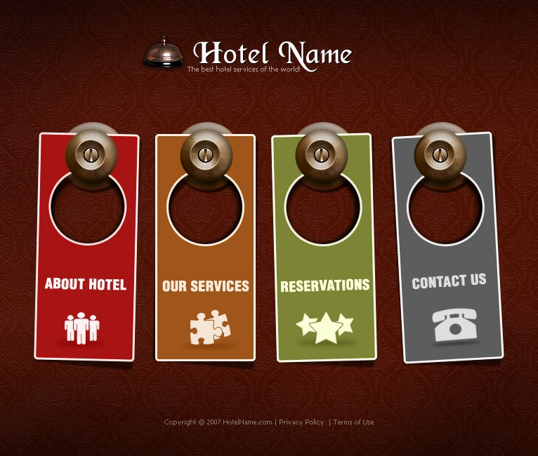 Hotels Flash Template #13531