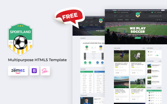 Sportland - Free Soccer HTML5 Website Template