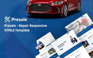 Presale- Repair Responsive HTML5 Website Template