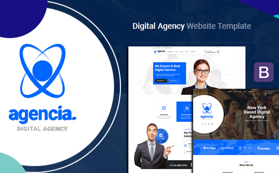"""Agencia | Creative Agency"" Responsive WordPress thema №136122"