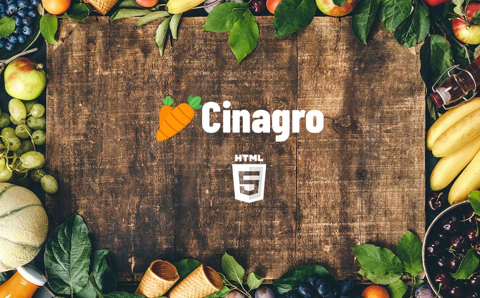 """Cinagro - Fruit Template"" modèle web adaptatif #136135"