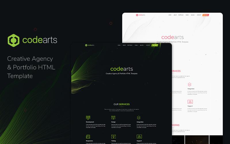 """Codearts — Creative Agency & Portfolio Website Template"" 响应式网页模板 #136121"