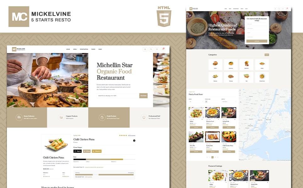 """Mickelvine - Menu"" modèle web adaptatif #136119"