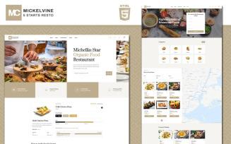 Mickelvine - Menu Website Template