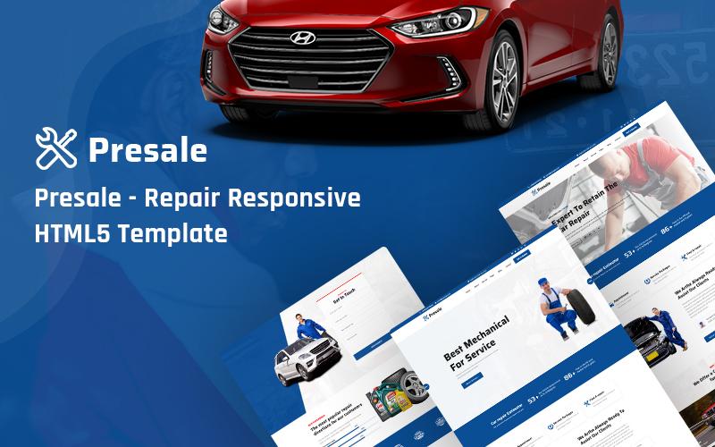 """""""Presale- Repair Responsive HTML5"""" modèle web adaptatif #136131"""