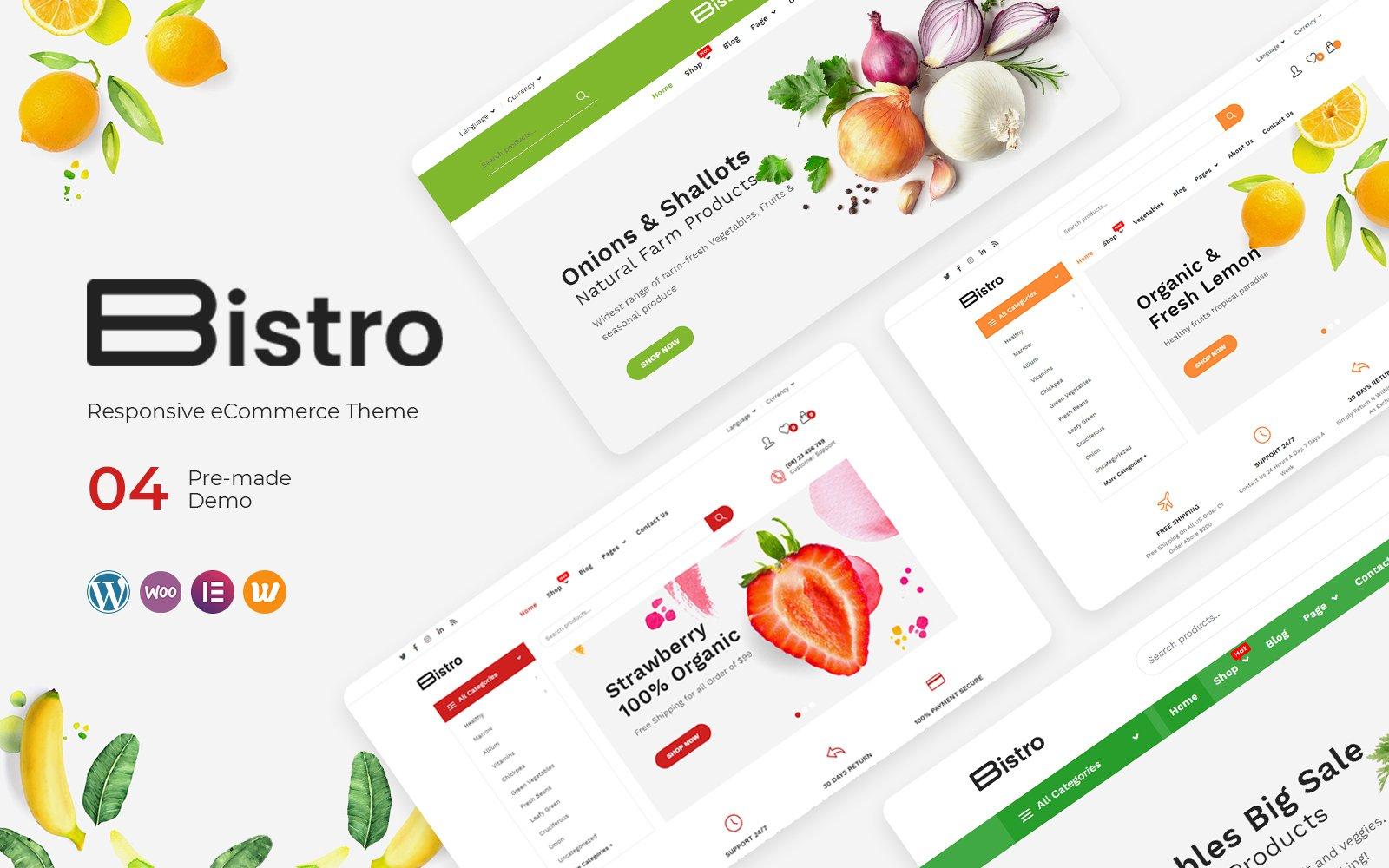 Reszponzív Bistro - Organic & Food WooCommerce sablon 136120