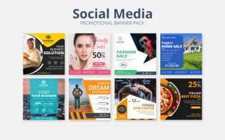 Promotional Banner Pack Social Media Template