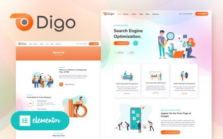 Digo - SEO and Digital Marketing Agency WordPress Elementor Theme WordPress Theme