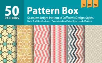 Patterns Collection in Pattern Box Background