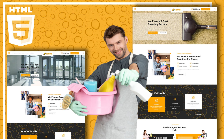 """""""Tiloor - Cleaning Service"""" modèle web adaptatif #136546"""