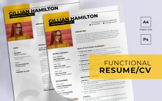 Functional Free Resume Template