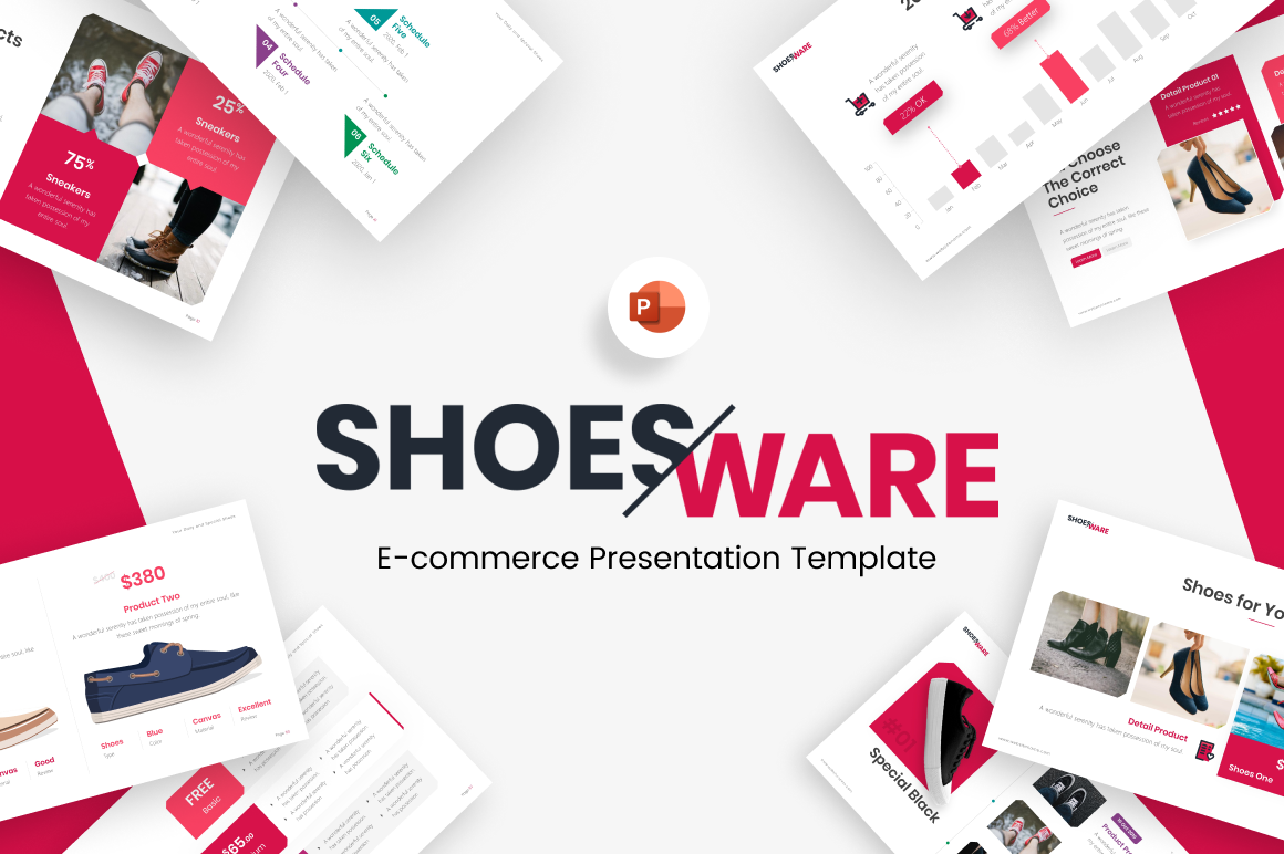 Shoesware E-Commerce PowerPoint Template