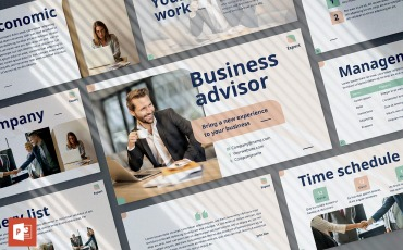 Business Advisor Presentation PowerPoint template