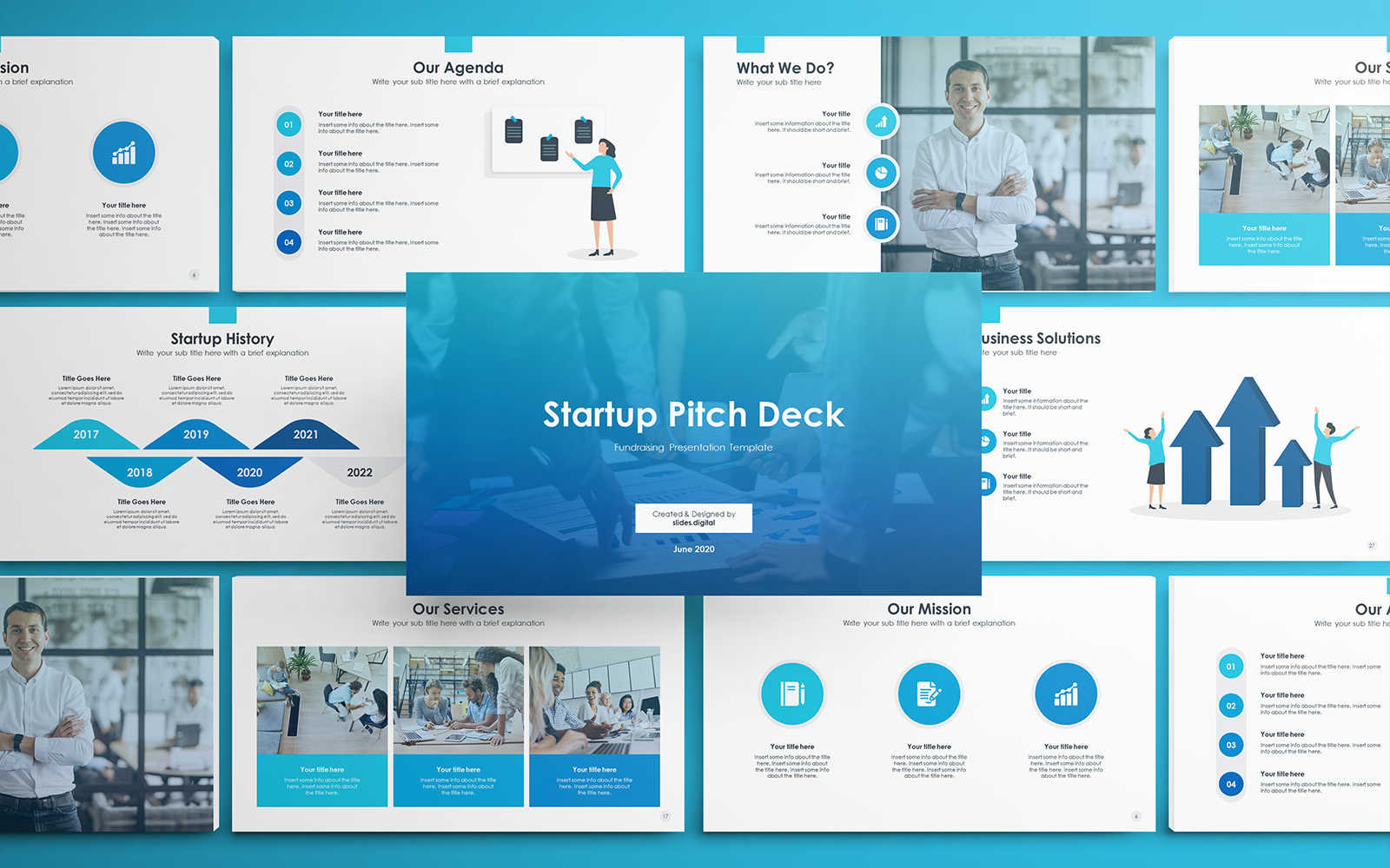 Startup Pitch Deck Google Slides #136944